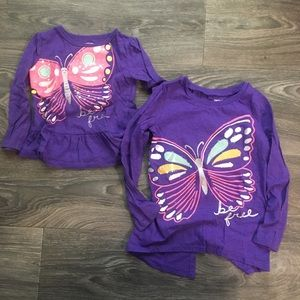 Carter's - 2t/5t Matching Butterfly Tops